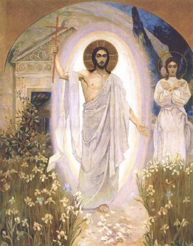 The Resurrection of Christ, by Mikhail Vasilyevich Nesterov.  Source