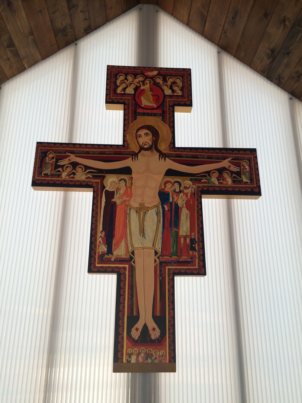 Beautiful San Damiano crucifix, by Michelle Ford.