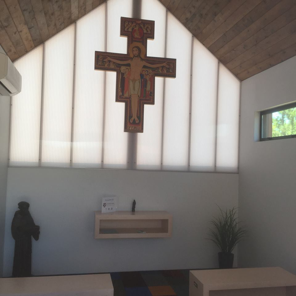 A peaceful prayer chapel is located at the heart of the community.