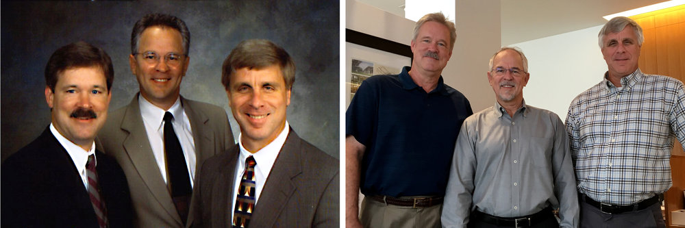 The three original founders: Steve Collier, John Jackson, and Bob Galloway