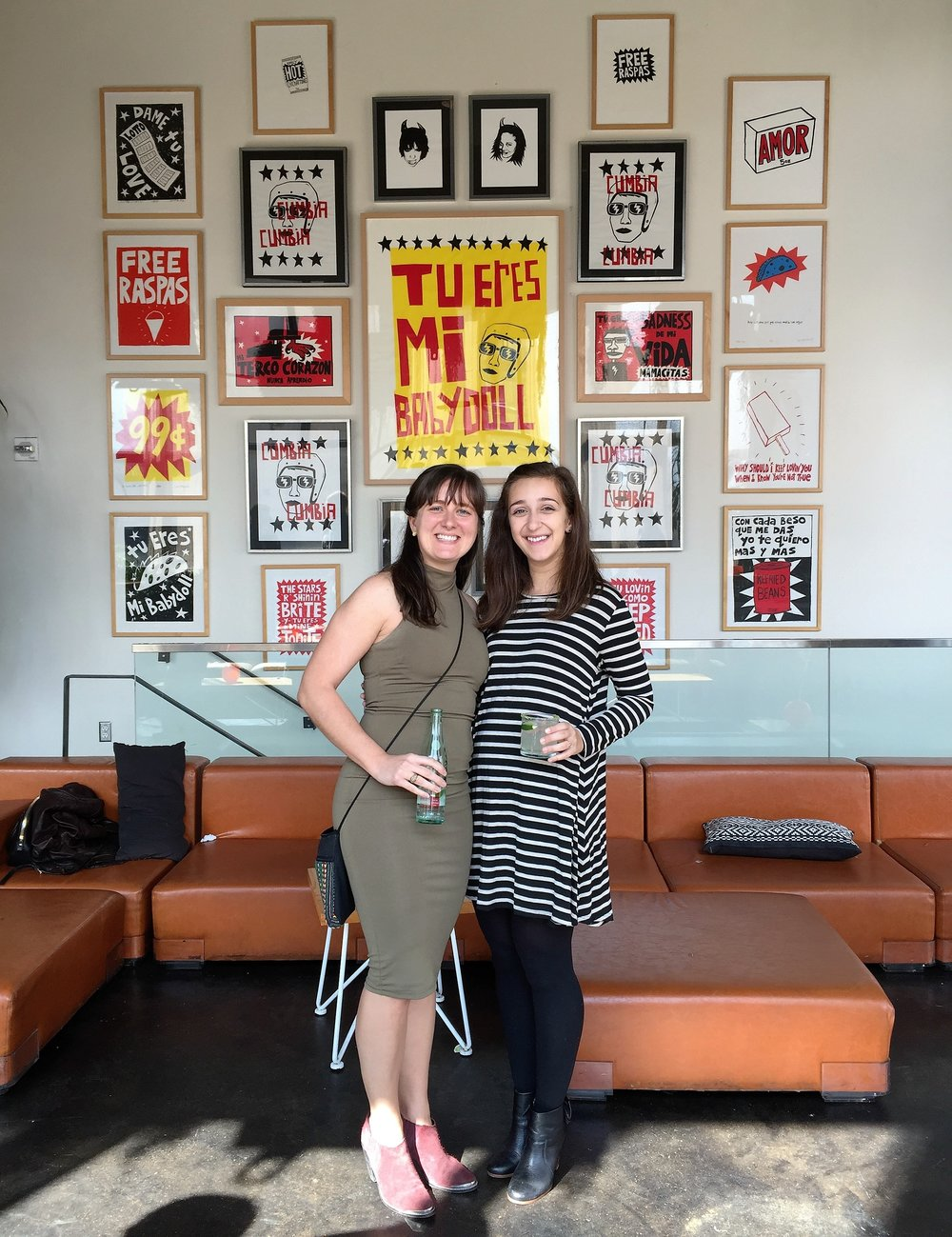 Our own Allison F. Stoos with colleague Anna Katsios at a celebration brunch in honor of both women achieving licensure as Architects this winter.