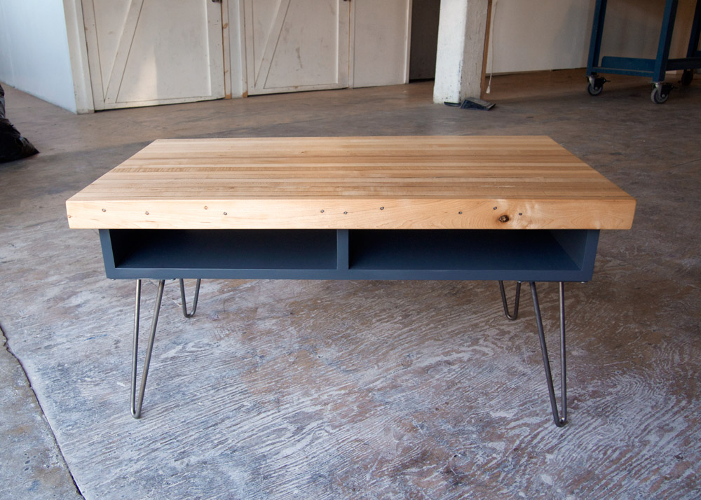 After the glue dried and the clamps came off, the project was complete: a stylish table that incorporated its reclaimed materials as well as if they were brand new.