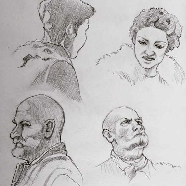 TV sketching - Outlander