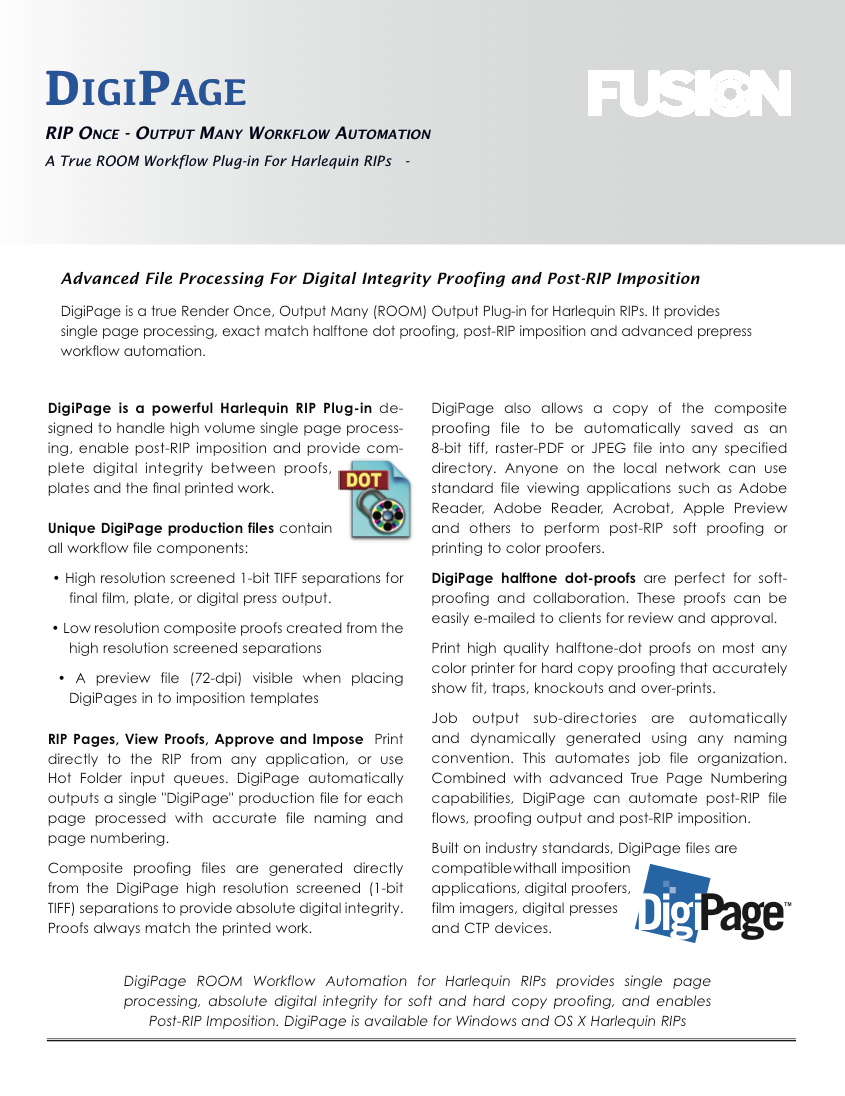 DigiPage Product Sheet