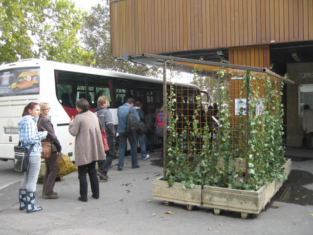 Clean Air Bus Stop Laboratory,Installatie, 3.15 x 2.14 x 1.66 BusstationPécs, Hongarije 2010