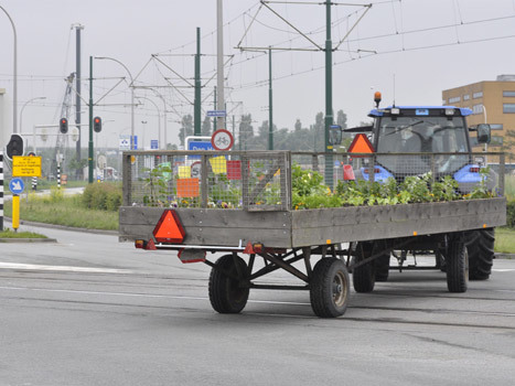 Vanochtend vroeg vertrokken Joost en ik op twee tractoren en met twee mobiele volkstuinen van Den Haag naar Duitsland…
