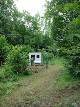 'Volkstuin II' ligt nabij een wandel- en ruiterpad.