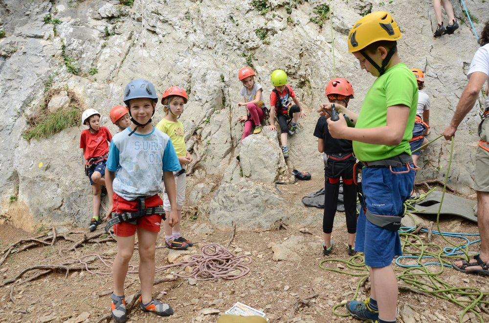 Plezalni izlet za otroke Grif
