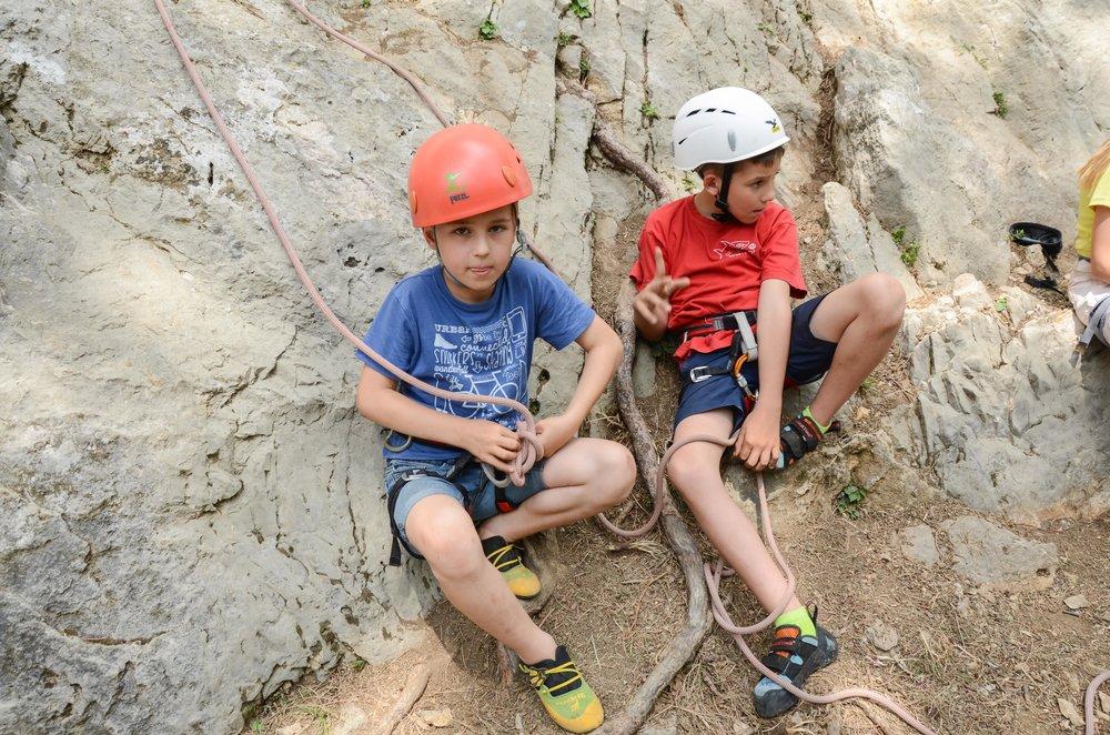 Plezanje za otroke Grif