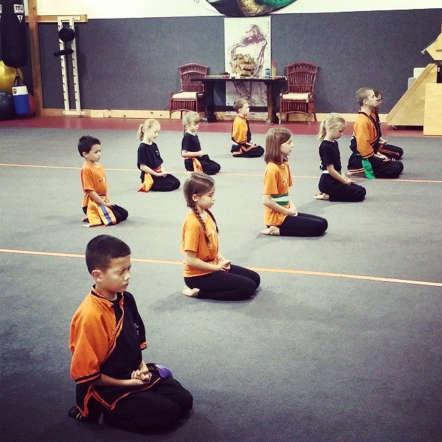 Meditation before the review helps to get everyone ready, wonderful practice for life.