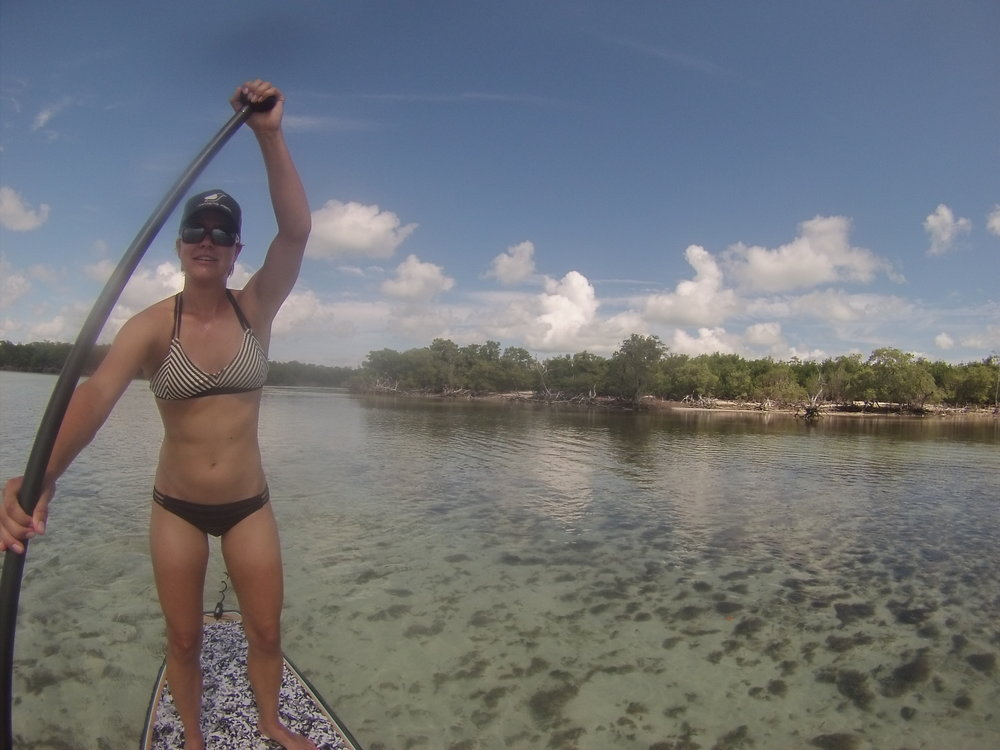 Tan line supreme/SUP tour into the mangroves. Key West, 2016.