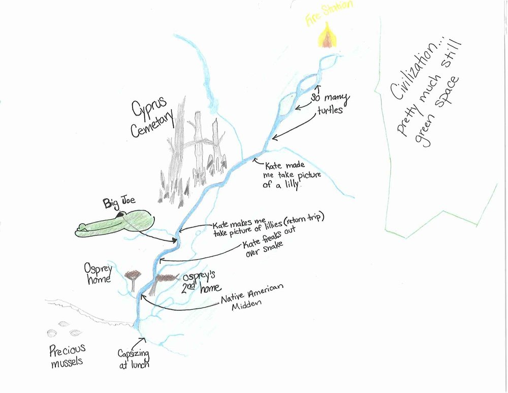 Bayou Cane Outing Adventure Storytelling Map