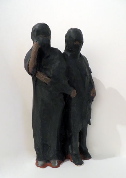 Fleeing Women,   2014   glazed earthenware 10 x 5 x 4 inches