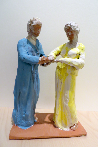 Women Joining Hands    terracotta with pigmented slip   2014
