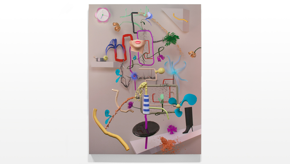 Still Life with Clock  , 2012   3D render, digital print   40 x 30 inches   edition of 2 plus 1 AP