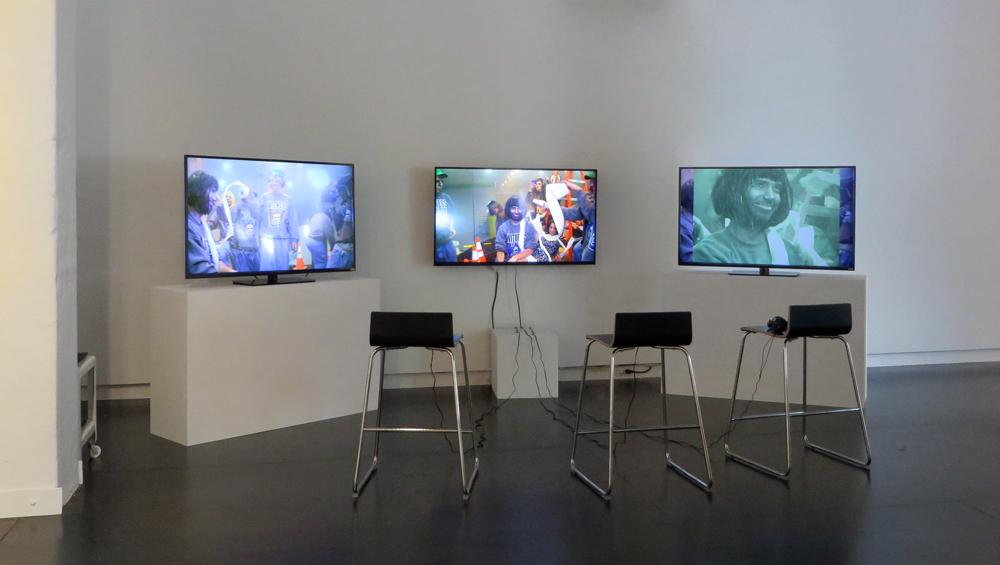 Comma Boat  (still), 2013   three channel movie installation