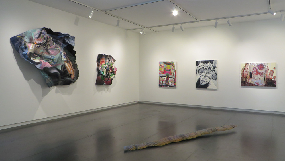 Paintings by Morgan Buck and Amy Turnbull; sculpture by Colin Kippen.