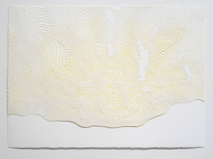 Laura Vandenburgh   Cloud Fragment 2 , 2015 watercolor, acrylic and paper, 29.5 x 41 inches