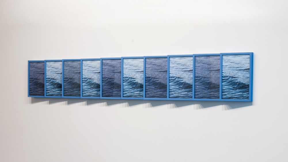 The Same River (Celilo)  (polyptych, detail), 2015 embellished Lambda prints and frames, each 18 x 12 x 4 inches SOLD