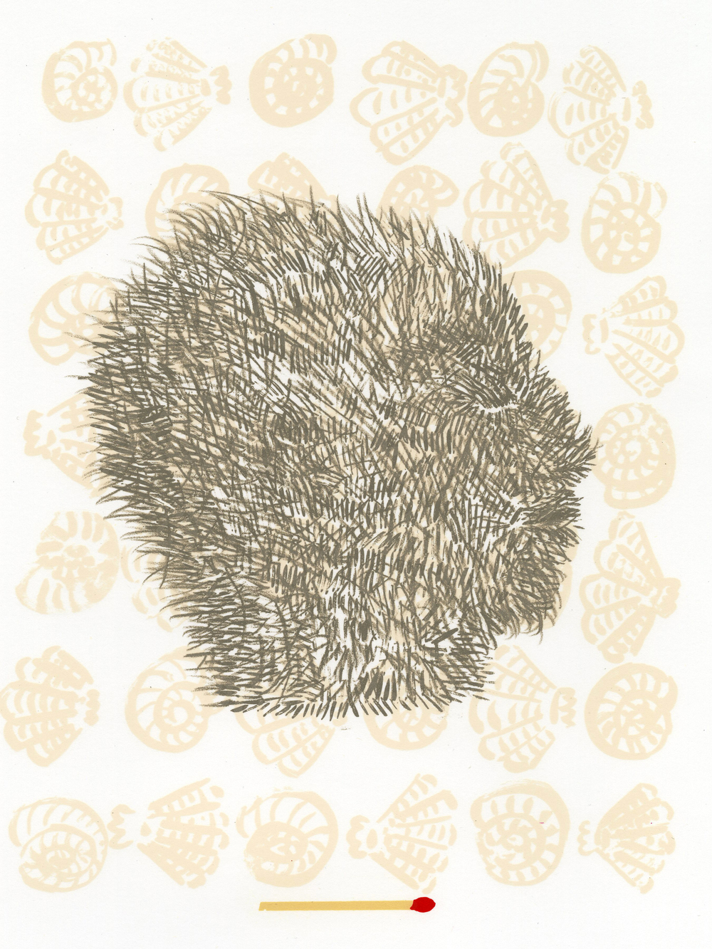 Fur Man , 2009 lithograph, 20 x 16 inches AP