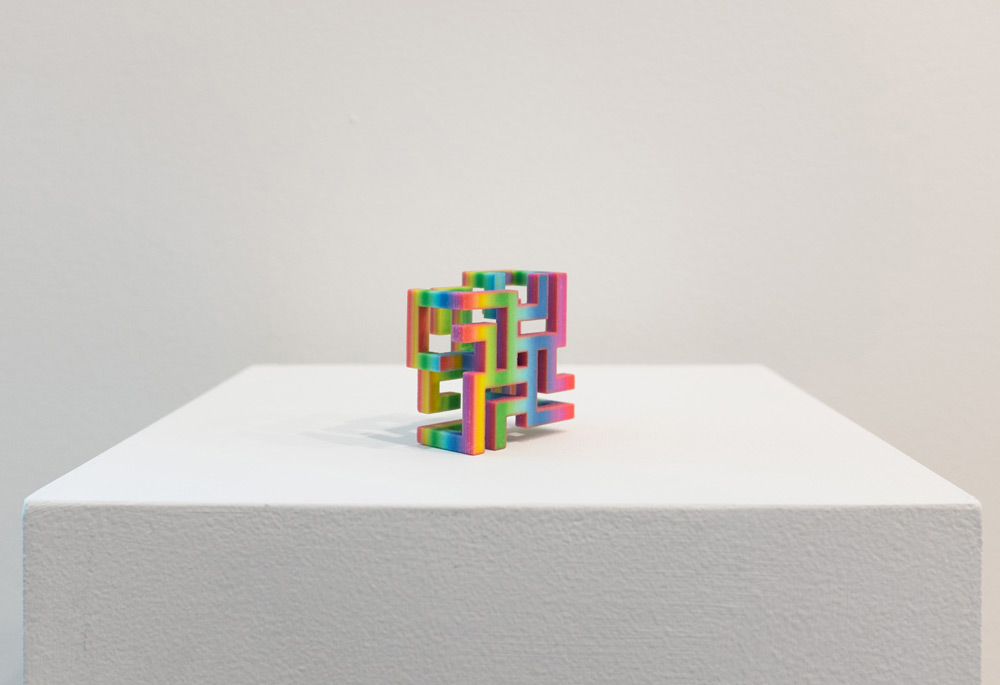 Rainbow Array 1 , 2015 3D printed sandstone, pigment 1 x 2 x 2 inches, edition of 4 plus 2 AP