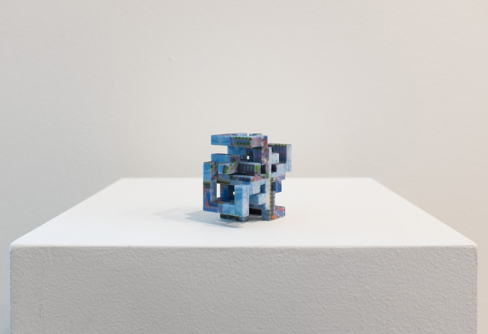 Game Cube Array , 2015 3D printed sandstone, pigment 1 x 2 x 2 inches, edition of 4 plus 2 AP