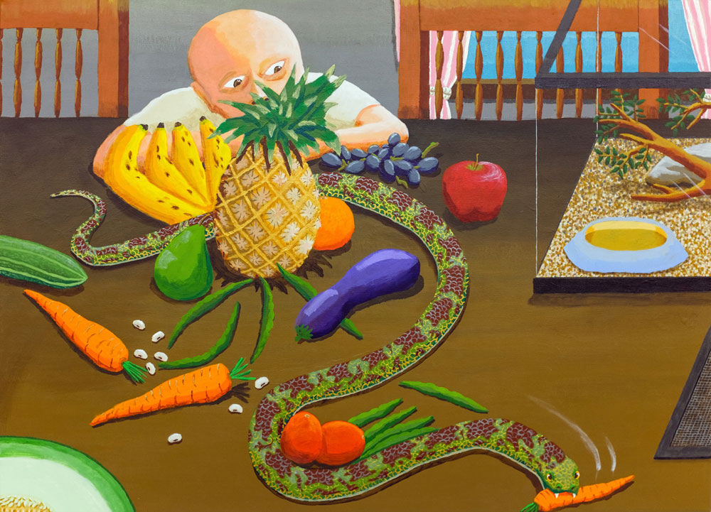 Vegetarian Serpent , 2015 acrylic on canvas 26 x 36 inches