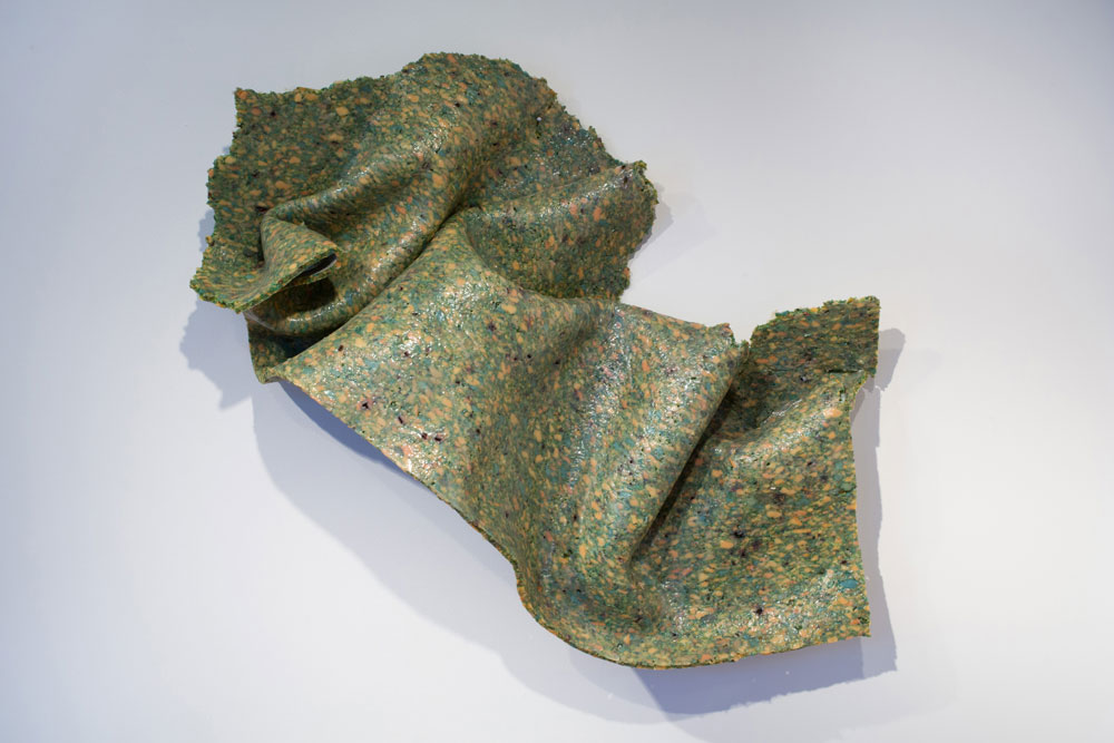 Tissue of Regret , 2015 carpet pad, epoxy 26 x 56 x 9 inches