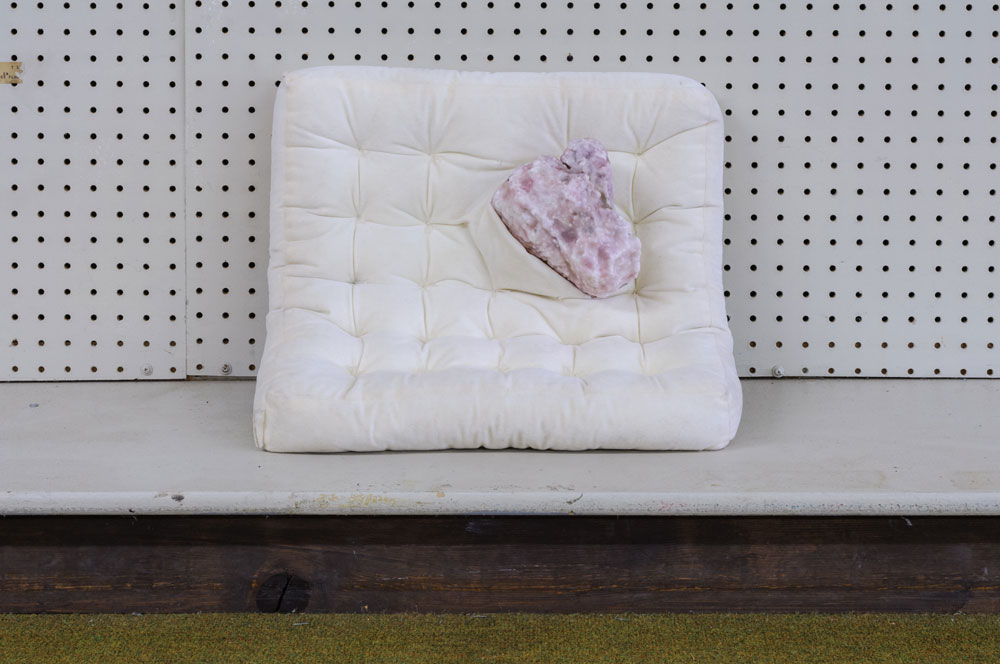 Friction Makes Me Warm , 2014 pillow, foam, wax 20 x 20 x 6 inches photo by Mario Gallucci