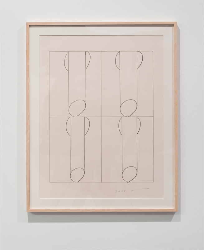 four penises A , 2017 pencil on paper 30 x 23 inches