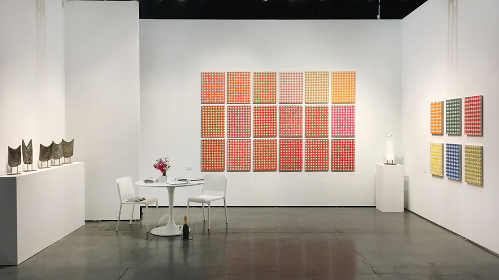 Upfor's booth at the Seattle Art Fair, 2017