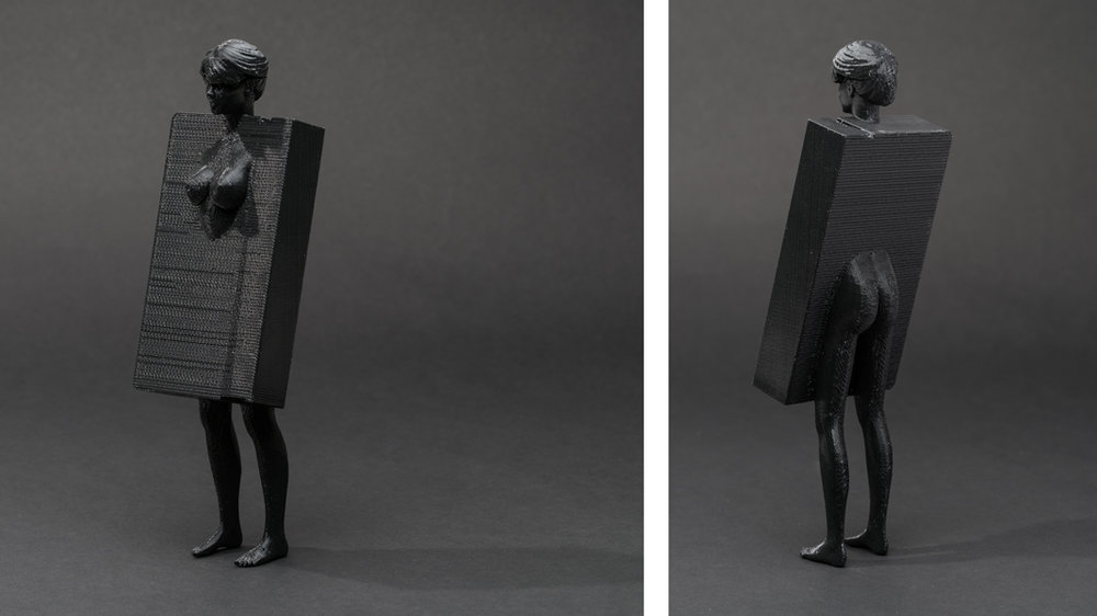 Dark Matter (First Series): #barbie #vhs , 2013 3D printed plastic resin, 8 x 2.75 x 1.75 inches (approx.) edition of 5 plus 1 AP photos by Mario Gallucci