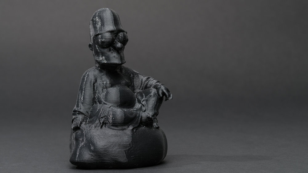 Dark Matter (First Series): #buddha #Simpson , 2013 3D printed plastic resin, 8 x 5 x 3.25 inches (approx.) edition of 5 plus 1 AP photo by Mario Gallucci