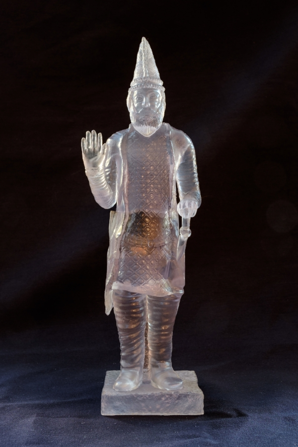 King Uthal , 2015 3D printed plastic and electronic components 12 x 4 x 3.5 inches photo by Mario Gallucci