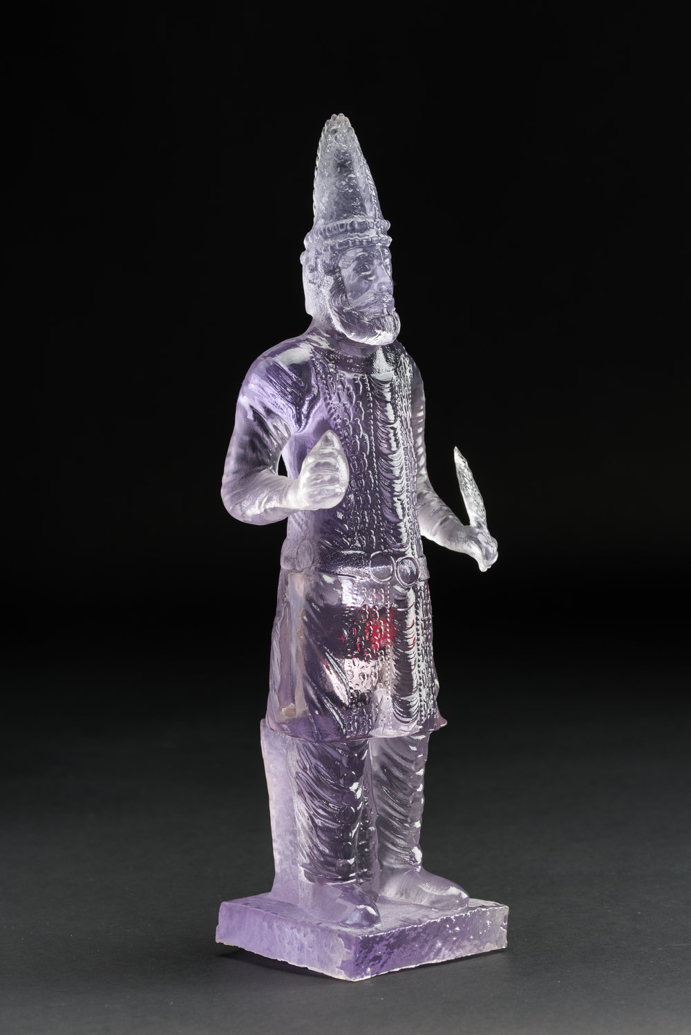 Unknown King of Hatra , 2015 3D printed plastic and electronic components 12 x 4 x 3.5 inches