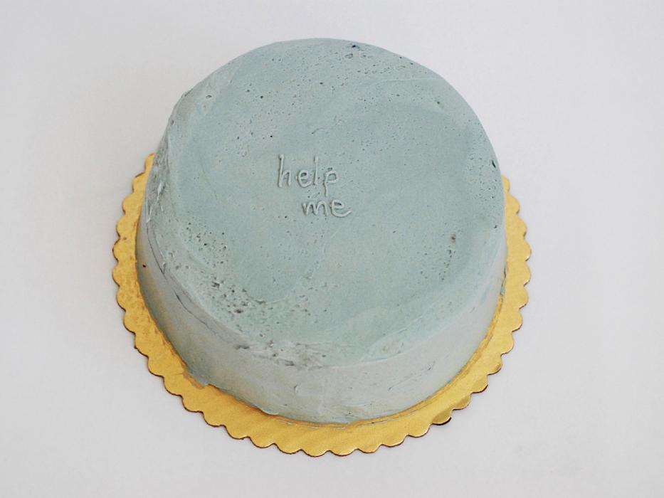 Help Me , 2007 cake 5 x 9 x 9 inches