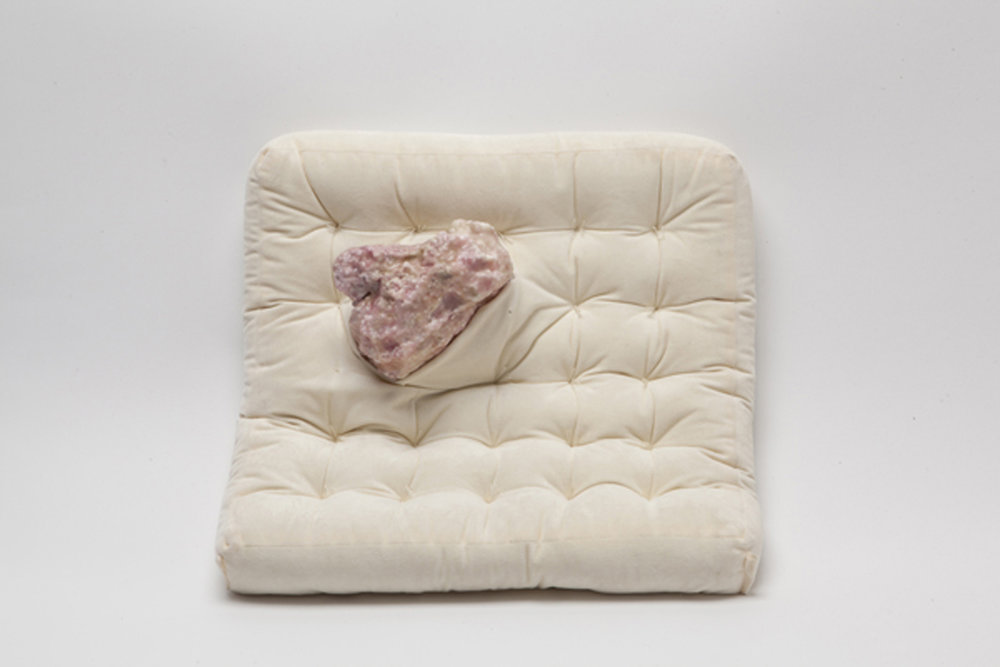 Friction Makes Me Warm , 2014 pillow, foam, wax 20 x 20 x 6 inches
