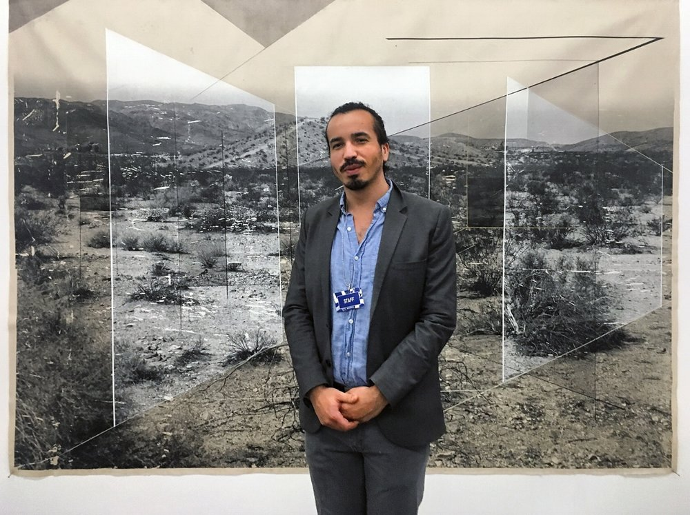 Artist Rodrigo Valenzuela at Material in Mexico City, 2018.