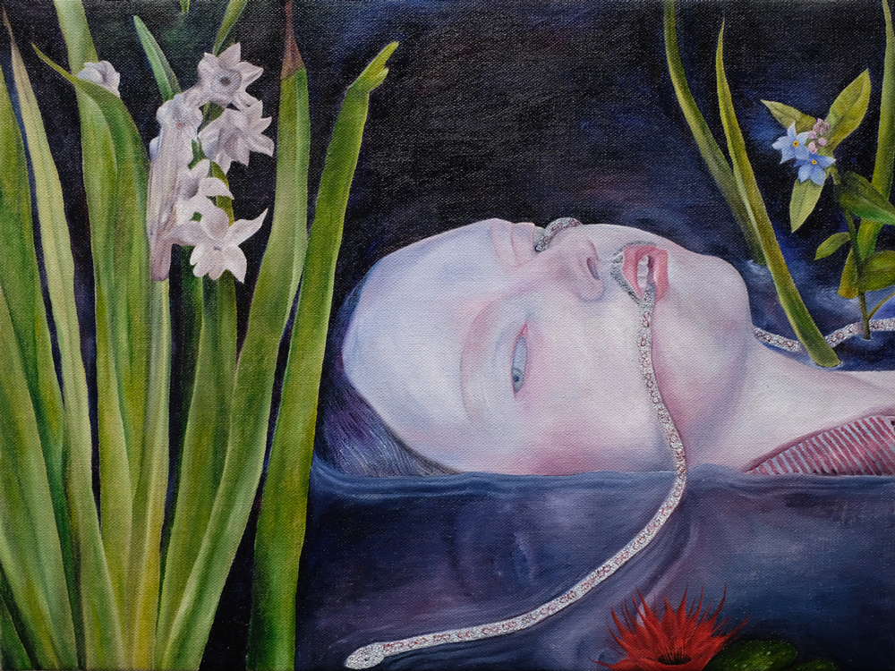 Ophelia , 2018 oil paint on linen 12 x 16 inches SOLD