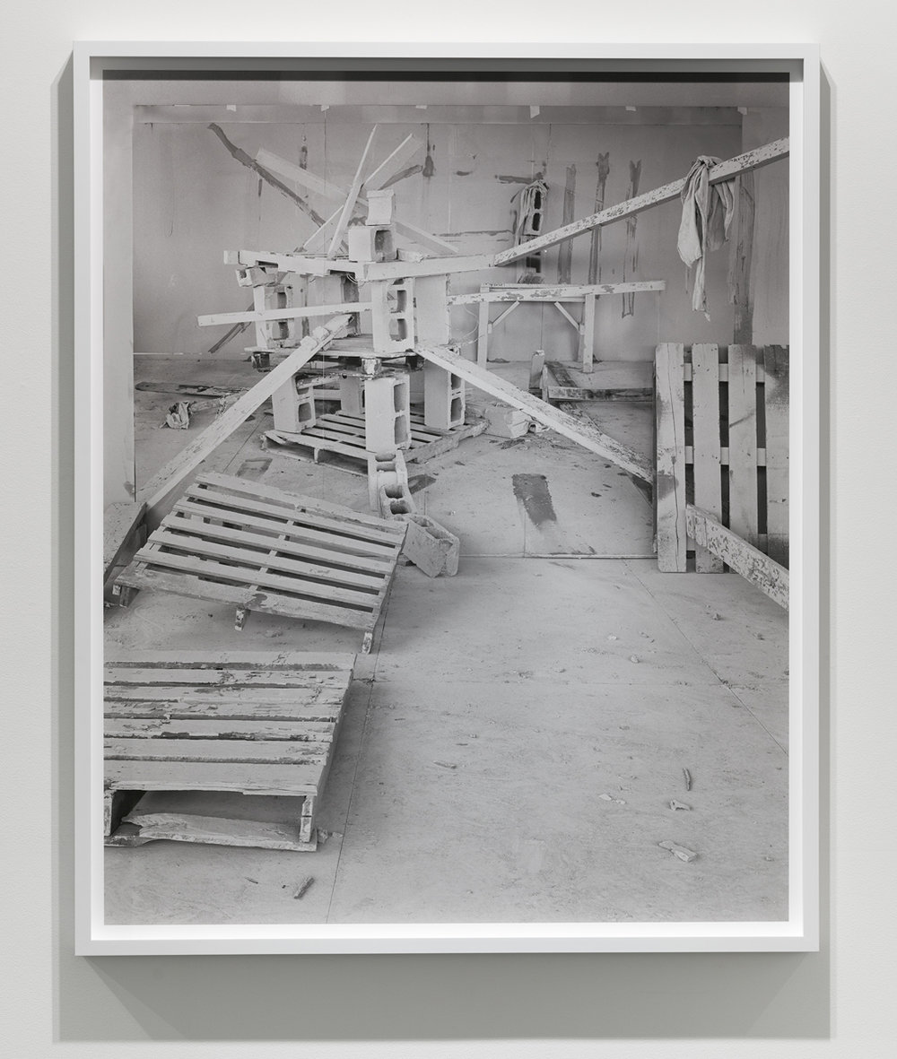 Barricade No. 4 , 2017 archival pigment print mounted on Dibond 55.5 x 45.25 x 2.25 inches (framed) edition of 3 plus 1 artist's proof