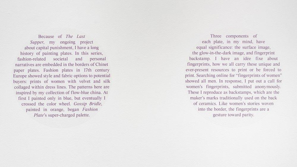 exhibition statement from Julie Green