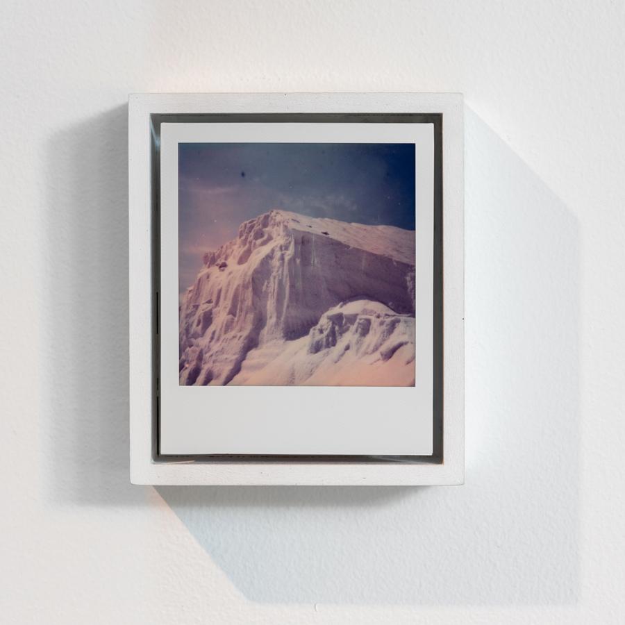 Salt Mt. , 2018 Polaroid, wood, paint 5.125 x 4.375 x 1.625 inches (13 x 11 x 4 cm)