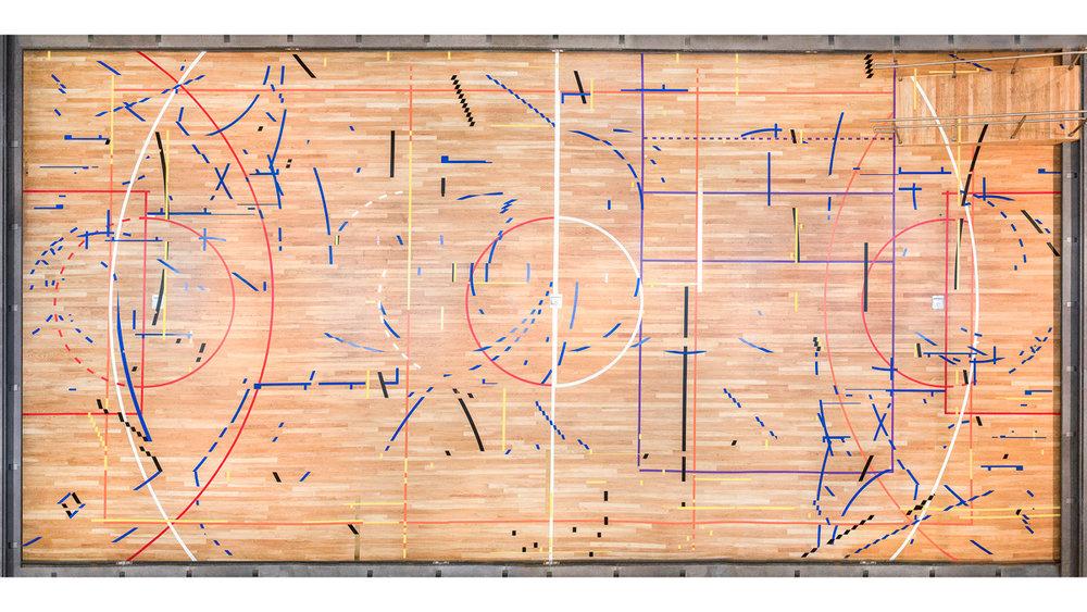 there is no halftime / no hay medio tiempo  (aerial view), 2017 Queens Museum