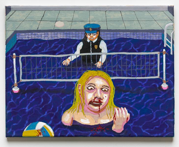 A Mismatch , 2018 acrylic on canvas 11 x 14 inches