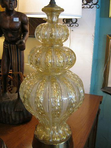 sold murano glass lamp