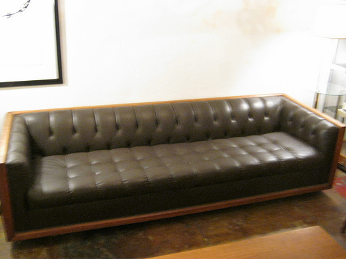 SOLD   Mid Century Chesterfield Sofa