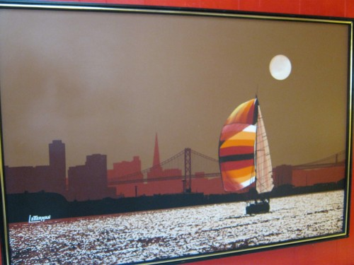 San Francisco Artwork By Letterman Casa Victoria Vintage