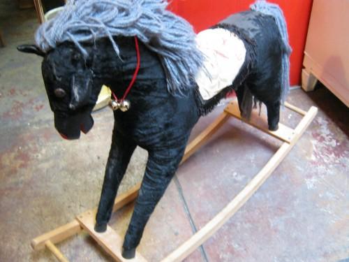Black Rocking Horse