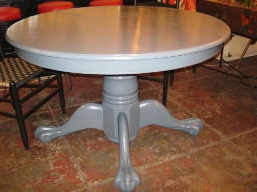 Blue Pedestal Dining Table
