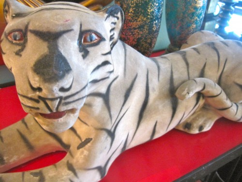 Lounging Tiger Sculpture